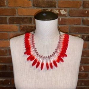 Diana Broussard Navaho Necklace In Red